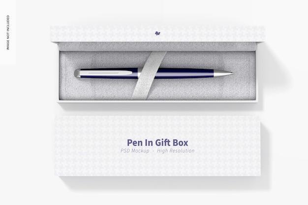 선물 상자 모형, 평면도에 펜