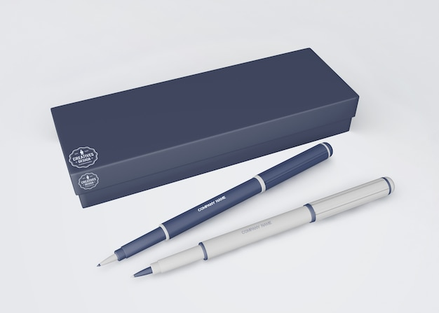 Pen mockup for merchandising