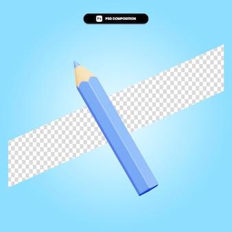 Карандаш 3d визуализации изолированных иллюстрация
