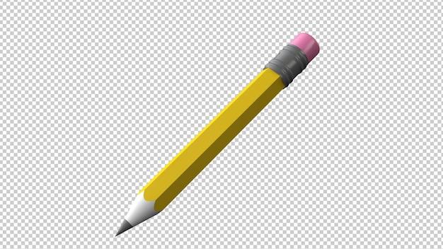 연필 절연 3d 렌더링