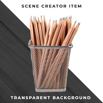 鉛筆オブジェクトの透明なpsd