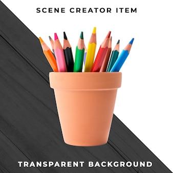 Pencil object transparent psd