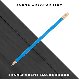Pencil object transparent psd