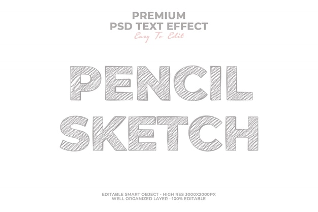 Pencil style effect