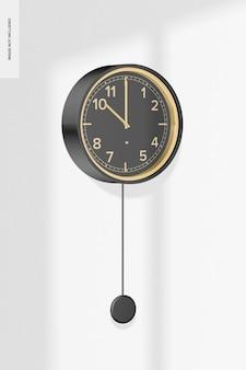 Мокап настенных часов с маятником