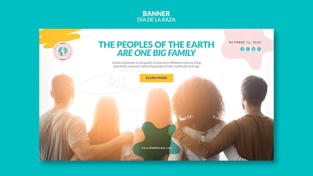 People are one big family banner template