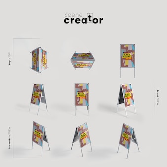People stopper various angles for scene creator illustrations