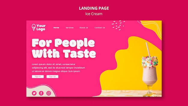 For people with taste landing page template