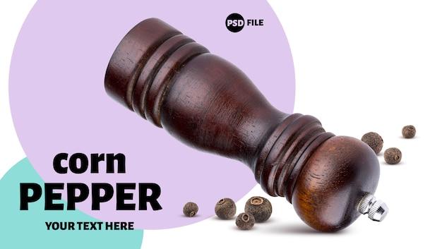 Pepper mill and black allspice