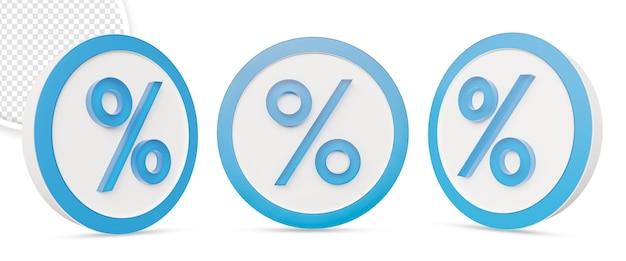 Значок процентной скидки изолирован