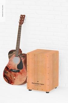 ギターモックアップとパーカッションカホン