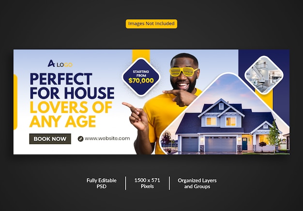 Perfect real estate house for sale facebook timeline cover template