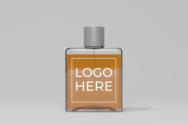 Perfume bottle 3d mockup