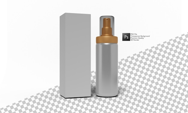 Perfume illustration 3d design