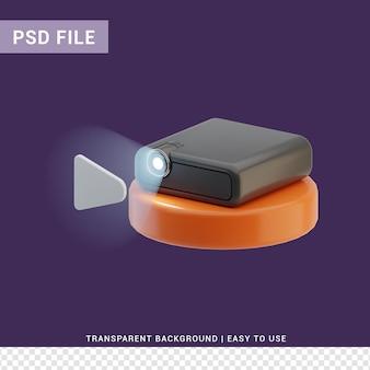 パーセンションプロジェクション3dイラスト