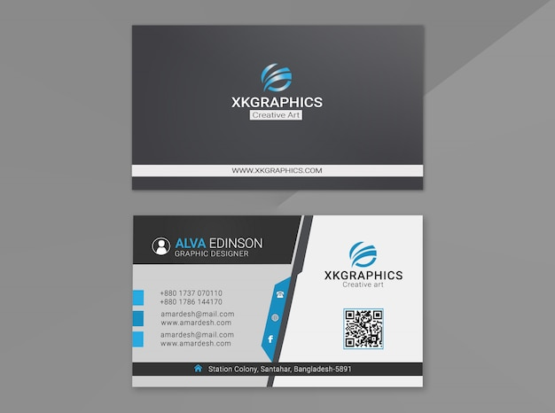 Personal graphic designer business card