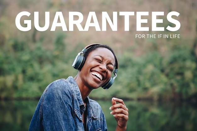 개인 생명 보험 템플릿 psd 젊은 성인 광고 배너