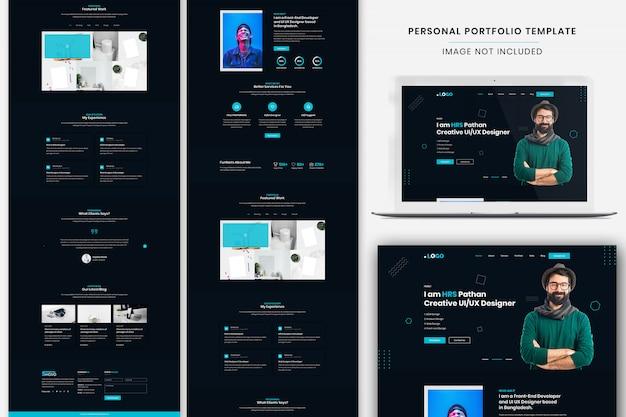 Personal portfolio landing page template