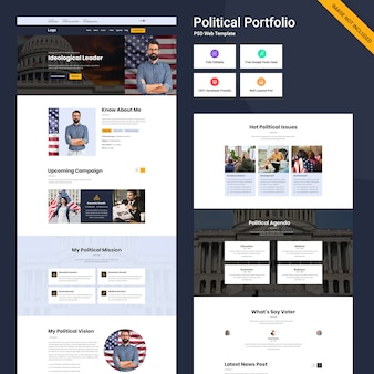 개인 포트폴리오 웹 사이트 템플릿