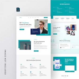 Personal portfolio website template