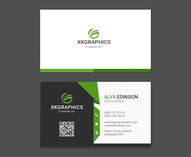 Personal web designer business card