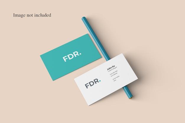 Перспективный макет визитной карточки для брендинга