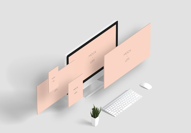 Perspective devices mockup