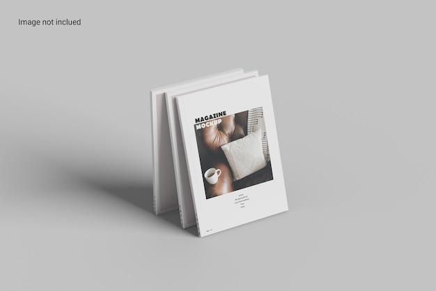 원근 잡지 목업 디자인