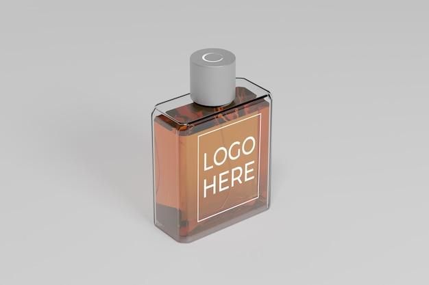 Perspective perfume 3d mockup