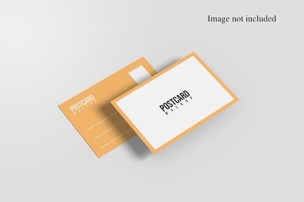 Perspective postcard mockup