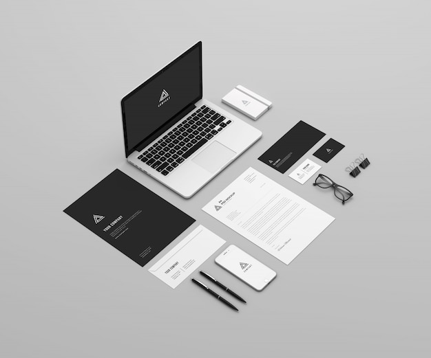 Perspective stationary mockup