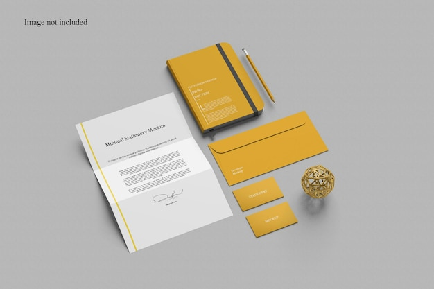 Perspective stationery mockup for your showcasing project