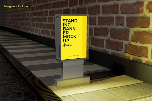 Perspective street billboard mockup for showcasing your design to your clients