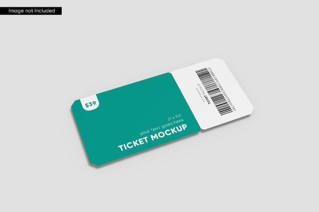 Perspective ticket mockup