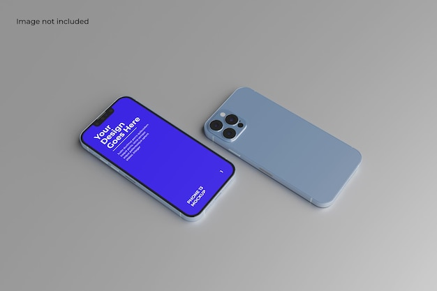 Perspective two smartphone 12 mockup