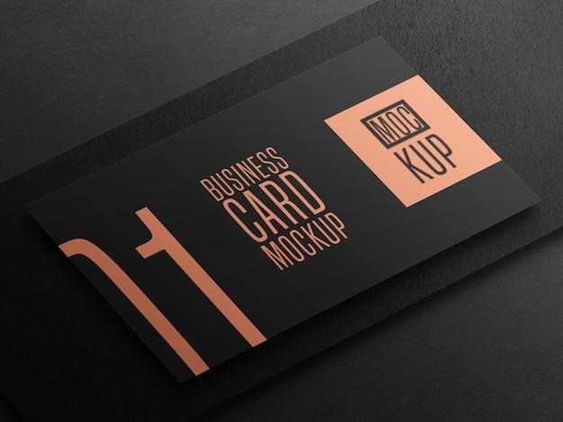 Элегантный макет визитной карточки в перспективе
