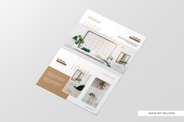 Perspective view flyer mockup