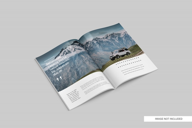 Perspective view magazine mockup