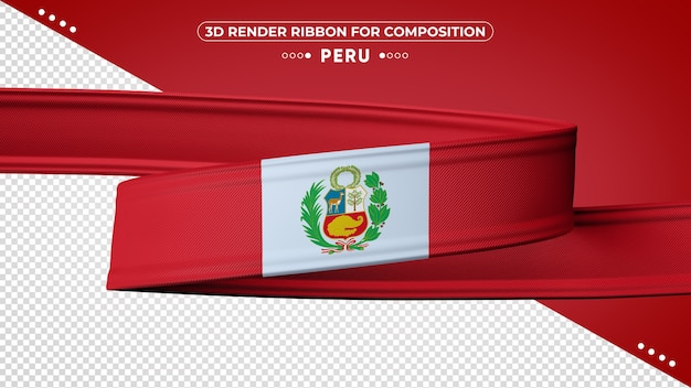 페루 3d 렌더링 리본 구성