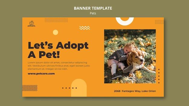 Pet adoption banner template