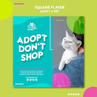 애완 동물 입양 전단지 템플릿 테마 무료 PSD 파일