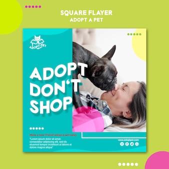전단지 템플릿-애완 동물 입양 무료 PSD 파일