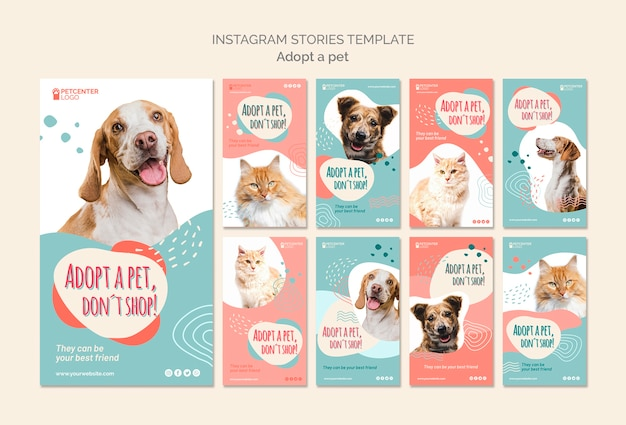 ペット採用instagramストーリーテンプレート