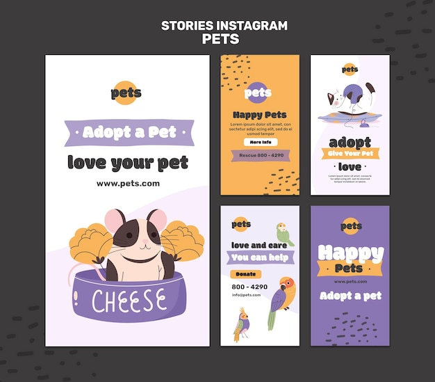 Pet adoption social media stories
