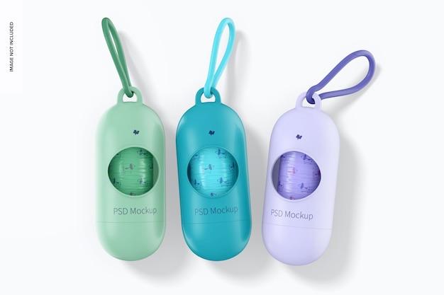 Mockup di distributori di sacchetti per animali domestici