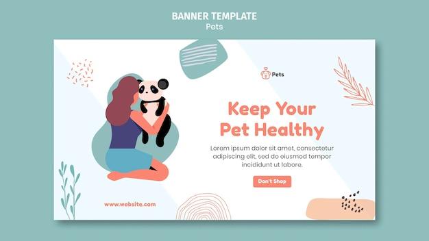 Дизайн шаблона баннера для домашних животных