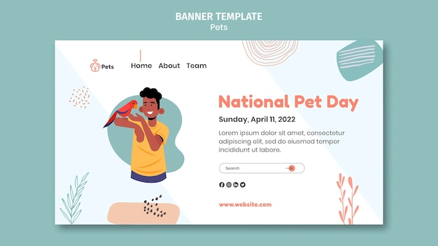 Pet banner template design