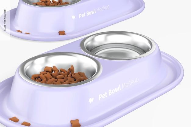 Мокап миски для домашних животных, крупным планом