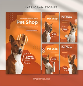 Pet care template for instagram stories