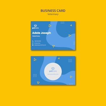 Pet care veterinary business card template